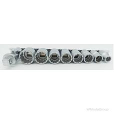 Набор торцевых 12 гранных головок 50 STAHLWILLE 1/2 с мультипрофилем на планке