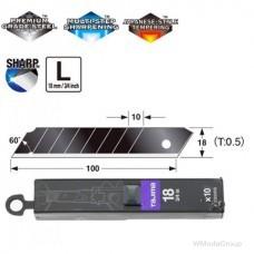 Сегментные лезвия Premium 18мм TAJIMA DORA Razar Black Blades CB50RB, 10 шт.