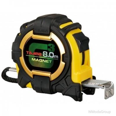 Рулетка строительная ударопрочная, экстра лента, TAJIMA G3 LOCK 27, G3M780MW - 8м×27мм