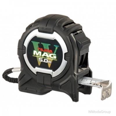 Рулетка строительная ударопрочная, два магнита TAJIMA W-MAG, WM550MR - 5м×25мм