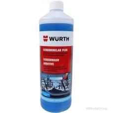 Зимний концентрат-очиститель для стекол PLUS 1 литр. Незамерзающая жидкость для систем очистки лобовых стекол (для бачка омывателя)